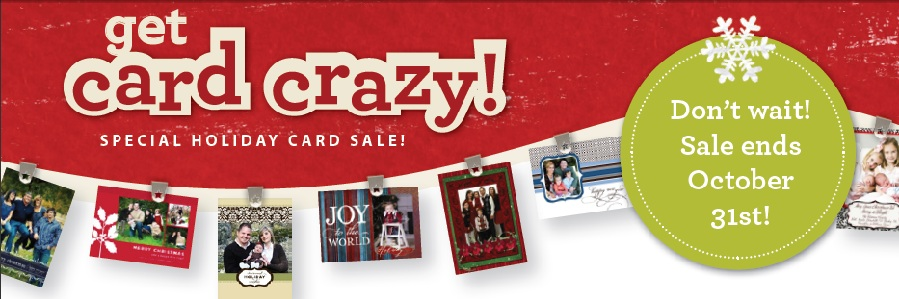 Purchase your Holiday cards now and SAVE$$ and create when you are ready to